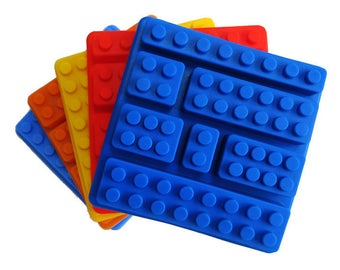 Silicone Mold: Building Blocks, 7 Cavity Mold, Block Mold, Silicone Block Mold, Candy Mold, Soap Mold, Toy Mold, Food Safe Mold, MOL014