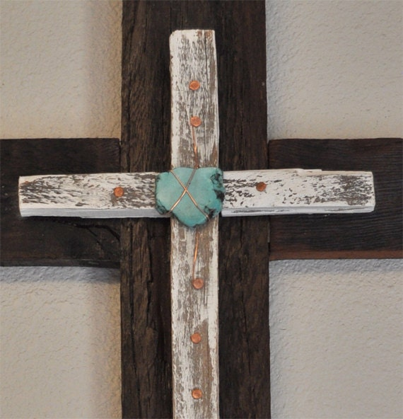 Unique Turquoise Cross Home Decor Rustic Decor Religious