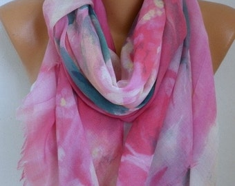 ON SALE --- Pastel Tones Cotton Scarf Soft Shawl bohemian Scarf, Summer Cowl Oversized Wrap Gift Ideas For Her Women Fashion Accessories