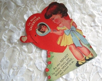 Valentine with Moveable Parts  Valentine's Day   Collectible Ephemera  Used  Writing