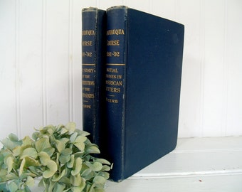 Chautauqua Course 1891-'92 The Story of the Constitution of the United States - Thorpe / Initial Studies in American Letters - Beers