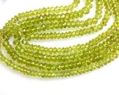 Peridot Rondelle Faceted Beads - Size 5MM Sold 14 '' AAA Quality 100% Natural Gemstone Wholesale Price 4 strands