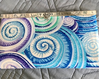 Stylish Clutch Wallet Beachy Colors  Diva Wallet