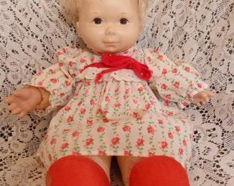 Vintage 1974 Fisher Price #204 ANN Lapsitter baby Doll 13""