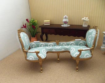 Dollhouse miniature sofa - 12th scale - double ended - 'Cameo Range'