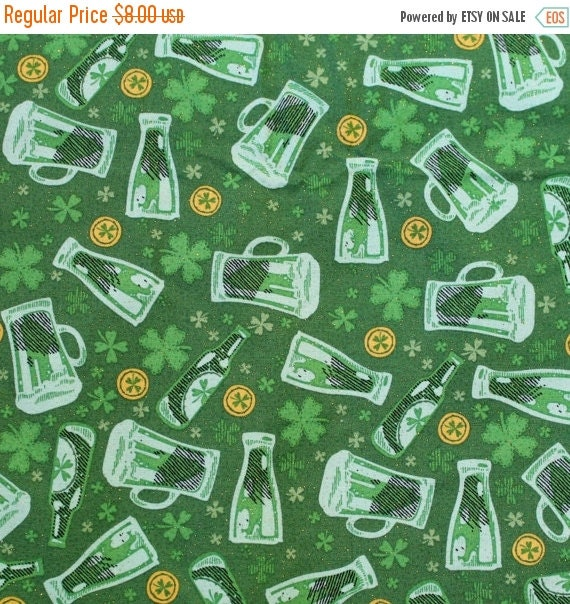 Green beer fabric,Four leaf clover fabric,Irish fabric,St. Patrick's Day fabric,100% cotton fabric,Quilt fabric,Apparel fabric,Craft fabric