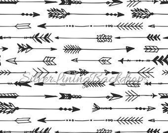 NEW Item 7ft x 8ft Photography Backdrop / Trendy ARROWS / Black & White Arrows