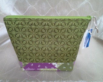 Green and Purple Patchwork Essential Oil Bag