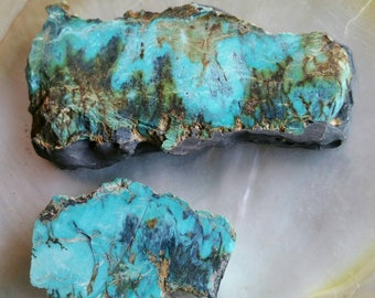 Blue Diamond MIne Smoky Chert Turquoise Plate Form Slab Specimen Gem Collector