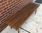 RESERVED Mid Century Modern Slat Bench/ CoffeeTable