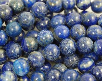 10mm Lapis Lazuli Round Beads (A Grade)   -15.5 inch strand