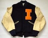 Vintage University of Illinois Varsity Jacket
