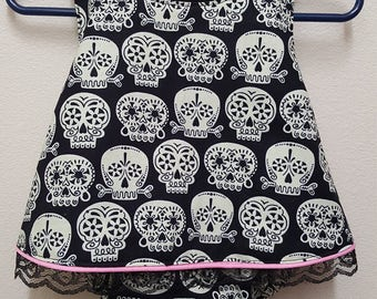 Baby Toddler Bubble Suit Romper -  Sugar Skull - 6 Months - GLOWS in the DARK!!
