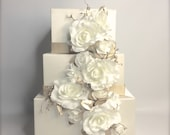 Private Listing for Lynette - Wedding Card Box Cascade Gold and Ivory and Gift Boxes