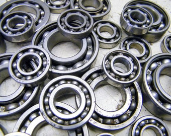 27 Old Steel Ball Bearings Salvaged Tool Parts  Steampunk Assemblage Art
