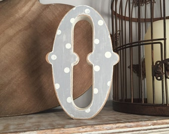 Painted Wooden Letter - Large O, Circus Font, 40cm high, 16 inch, any colour, wall letter, wall decor, 18mm