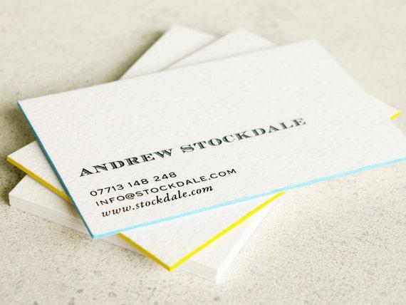 Islenoire luxury custom business card painted edge business