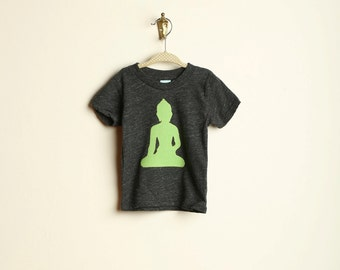 Ohm Buddha Baby Toddler or Adult Tee Organic blend tee Yoga Namaste unique childrens present