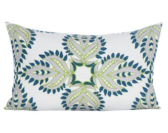 Diba lumbar pillow cover in Peacock