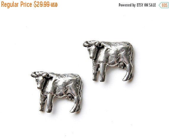 ON SALE Bull Cufflinks Set,  Gift Box Included, Guaranteed