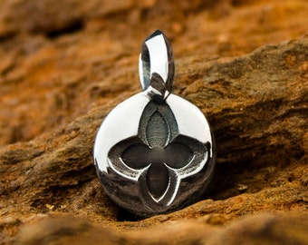 Handmade Solid Sterling 925 Silver Gothic Dawn Seal Cross Pendant or Reversible Charm