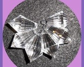 Chandelier Crystal Clear 20mm Prism Glass Faceted Cut Glass Set 6, 20x11mm, Earrings, Weddings, Lamps