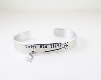 Hand Stamped Harry Potter Cuff