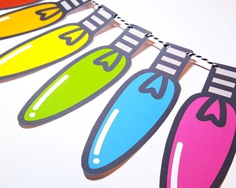 Colourful Retro Light Bulb Garland 6 or 12 Pieces - FREE UK P&P