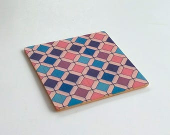 Objectify Retro Honeycomb Coasters - Set of 4