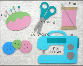 Die Cut Sewing Machine Scrapbook Page Embellishments for Card Making Scrapbook or Paper Crafts