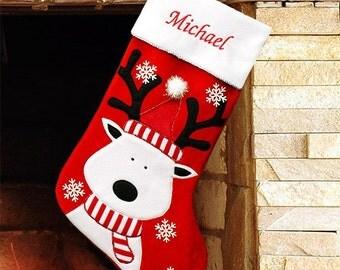 Reindeer Christmas Stocking -gfyS34679
