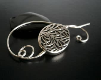 Shawl Pin, Scarf Pin, Wire Wrapped Jewelry, Pin for knitters, Wirework
