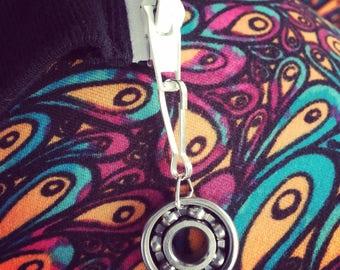 Roller Derby Skate Bearing Zipper Pull - Zipper Pull ONLY