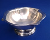 Vintage USN serving bowl - silver soldered - Reed and Barton - scalloped edge bowl - wardroom - officers mess - Navy holloware - US Navy