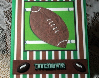 Green and Brown Football Birthday Card  20170083
