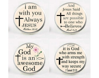 4 Snap Charm, Chunk Charm, Christian, Religious, Snap In Charm, Jesus, Bible Verse, Interchangeable Jewelry, 18mm Charm, Snaps, Button, #3