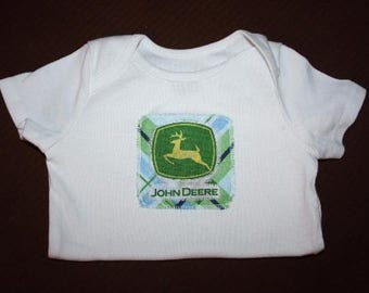John Deere Shirt or onesie and Shorts- Newborn to 4t