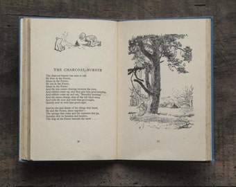 Defaced Vintage Winnie the Pooh book illustrated by E. H. Shepard Now We Are Six by A. A. Milne