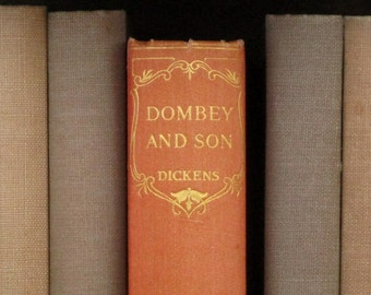 Charles Dickens book, vintage 1930s Dombey and Son