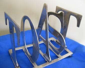 Silver Plated Toast Rack Toast Letters