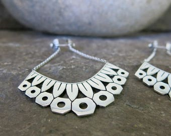 Zinnia Silver plated earrings