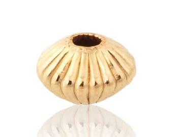 GoldFilled Corrugated Rondell Bead 5 mm Sold by 10 units