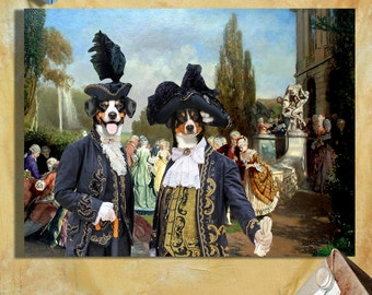 Entlebucher Mountain Dog Art CANVAS Print Fine Artwork of Nobility Dogs Dog Portrait Dog Painting Dog Art Dog Print