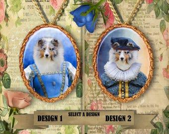 Shetland Sheepdog Jewelry. Sheltie Pendant or Brooch. Sheltie Necklace. Sheltie Portrait. Custom Dog Jewelry by Nobility Dogs.