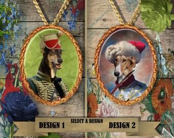 Chart Polski\ Polish Greyhound Jewelry. Chart Polski Pendant or Brooch. Chart Polski Necklace. Chart Polski Portrait. Custom Dog Jewelry.