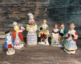 Lot of 6 French and Colonial Figurines