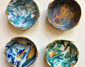 Marbled Ring Dish, set of 4