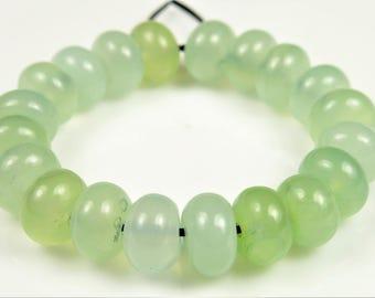 Refreshing ~ New Jade Serpentine Rondelle Bead - 8mm x 5mm - 20 beads - B6917