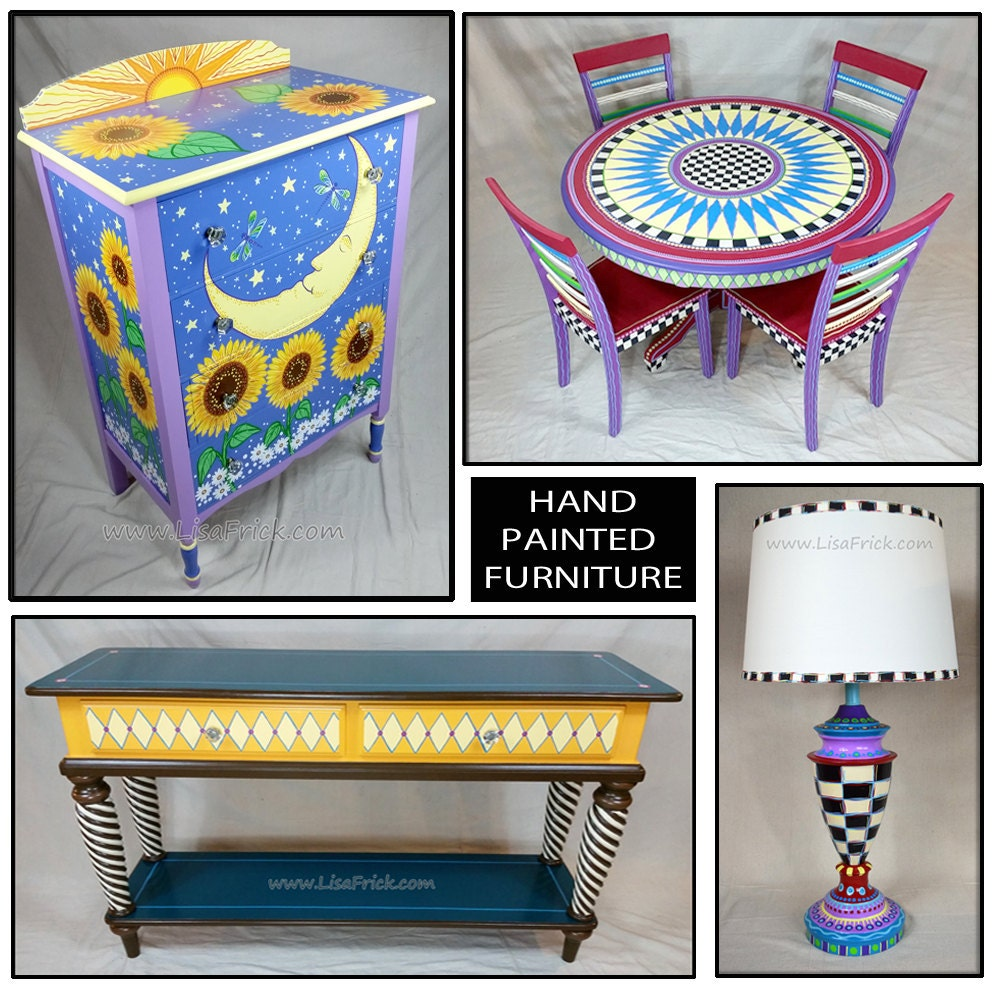 Hand painted furniture custom hand painted furniture for Hand painted furniture