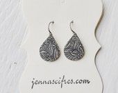 Silver Floral Drop Earrings - Silver Filigree Earrings - Antiqued Silver - Great Bridal Earrings - Bridesmaid Gifts